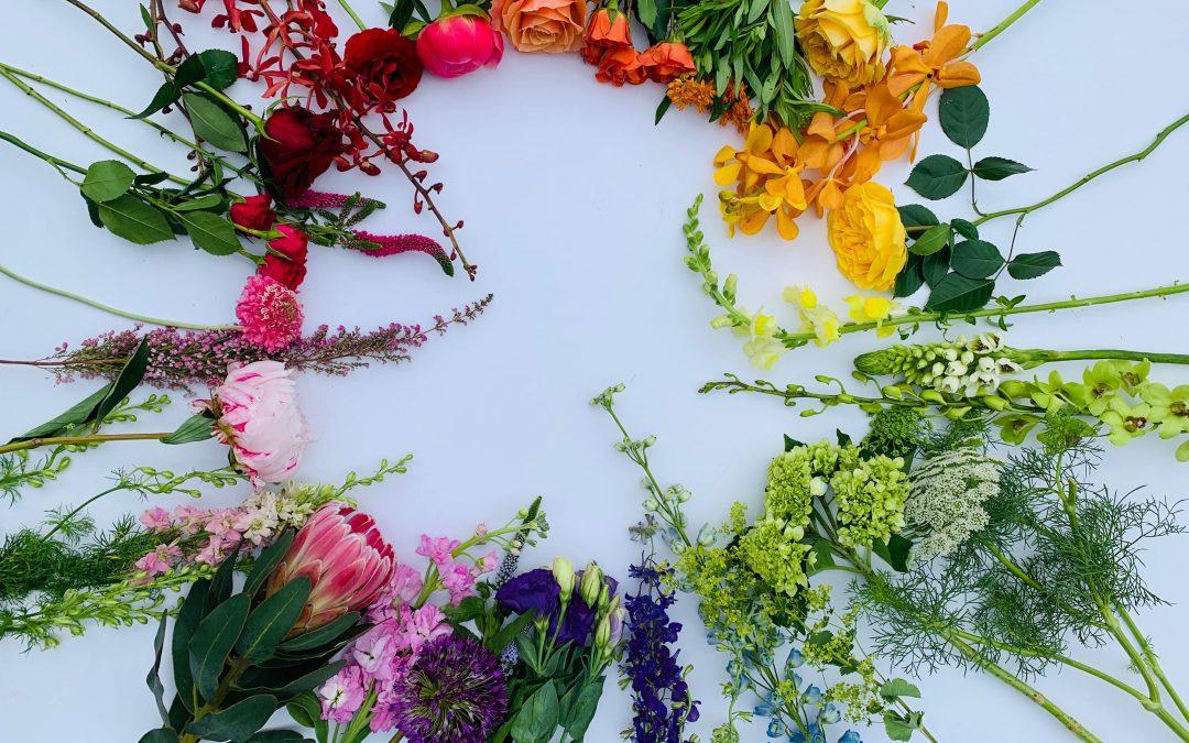 colour wheel for floral arrangement