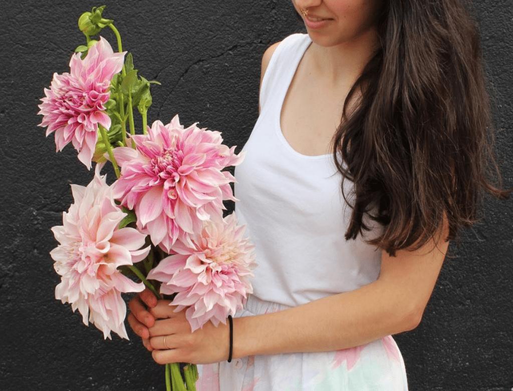 pink single stem bouquets