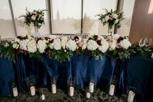 blue head table