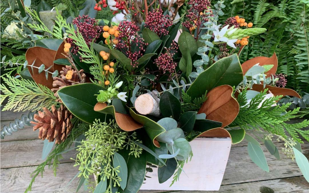 pinecone winter arrangement