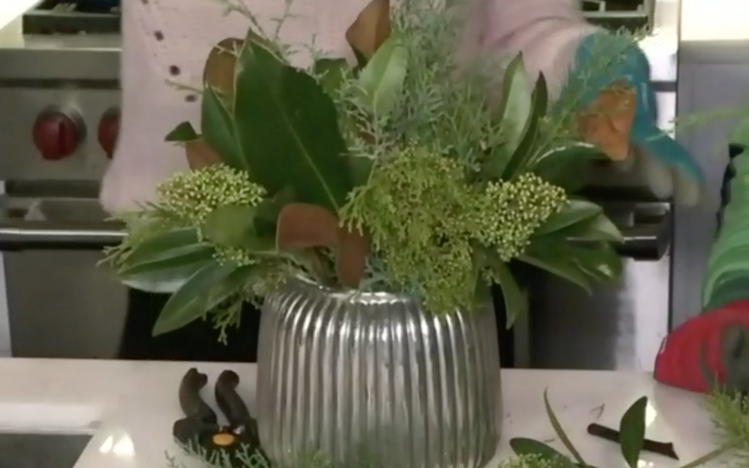 Make Your Own Winter Centrepiece