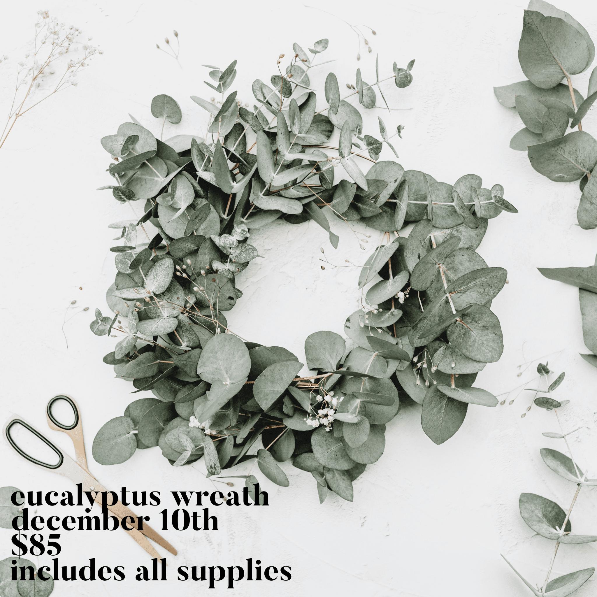 Eucalyptus Wreath Dec 10 Squaree