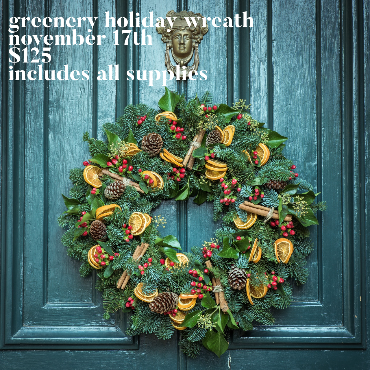 Greenery Holiday Wreath Nov 17