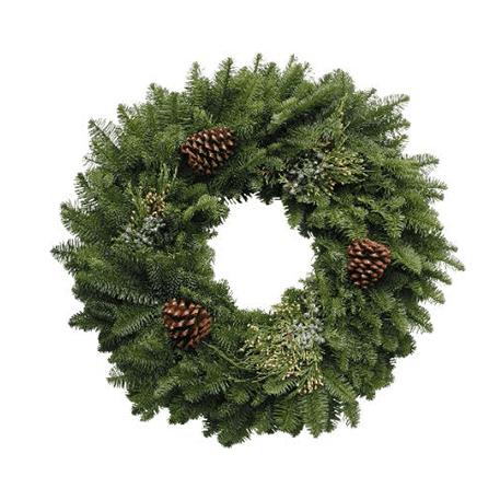 Round Mixed Noble Fir Wreath