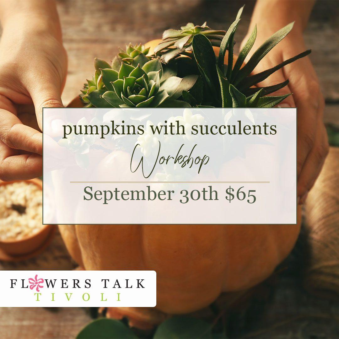 Pumpkins with Succulents Workshop